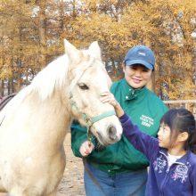 ウマ育教室「馬の上で体操をしてみよう編」